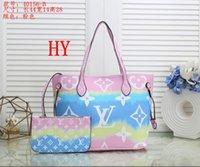 Wholesale set mother bags resale online - 2020 new shoulder bag leather high grade color handbag purse ladies high quality bag handbag piece set mother bag