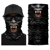 Wholesale spider man masks for sale - Group buy Spider Dinosaur Gorilla Tube Scarf Neck Gaiter d Printed Bandana Cycling Hiking Bicycle Men Women Half Face Cover Mask Headband wmtQmy