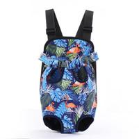 Wholesale designer backpacks resale online - Outdoor Travel Canvas Pet Puppy Dog Cat Chest Carrier Backpack Front Shoulder Bag Tote Sling Comfortable Carrier AHE2559