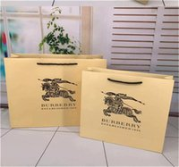 Wholesale small shawl resale online - Senior luxury scarf Packaging bags designer shawl Fashionable best gift branded paper bag Medium and small paper bags