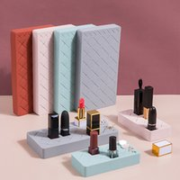 Wholesale chinese parts resale online - Lipstick Storage Silicone Multi Part Cosmetics Organizing Rack Dressing Table Lipstick Creative Showing Stand Grid