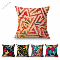 Throw Pillow Cover Graffiti Hexagon