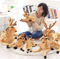 Wholesale 50 cm Simulation Deer Animal Plush Toy Soft Plush Animals Bags Children Soft PP Cotton Kids As Birthday Christmas Toy
