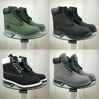 pato botas homens venda por atacado-Big Size 35-45 High Top Botas Mulher Lace-Up Shoes Inverno Valentine Duck Botas Midcalf Motos Botas Men # 231