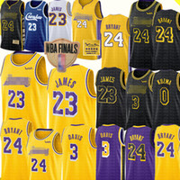 ingrosso maglie gialle nere-LeBron James 23 Jersey Los Angeles