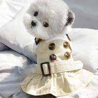 Spirng Summer Dog Clothes Handsome Trench Coat Dress Warm Clothes for Small Dogs Costumes Jacket Puppy Shirt Dogs Pets Outfits Y0107