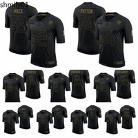 Wholesale football 52 jersey for sale - Group buy Chicago Bears Men Khalil Mack Walter Payton Salute To Service Retired Limited Football Jersey Black