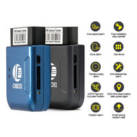 Wholesale gps phone gprs resale online - Mini OBD2 GPS tracker GPRS Real Time Tracker Car Tracking System With Geofence protect Vibration Phone SMS alarm alert tk206