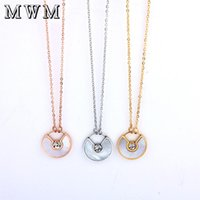 Wholesale pendant neckless resale online - MWM collar chocker stainless steel chain ethnic crystal necklaces pendants women s clothing accessories neckless