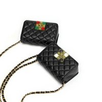 Wholesale diamond inlaid cross for sale - Group buy 2020 New Small Fragrance Style Geometric Fashion Diamond Inlaid Single Shoulder Diagonal Cross Bag For Women