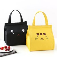 Wholesale insulated cooler tote bag resale online - Thermal Lunch Bag Women Portable Tote Insulated Cooler Bags For Boy Girl Kids Cartoon Beach Food Picnic Bags