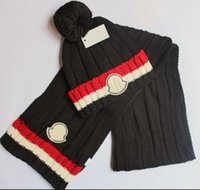Wholesale high hats resale online - Hot Sale New Fashion Winter And Autumn Warm Hat High Quality Cap Men Women Scarf Hats Knitted Caps Scarf Adjustable New Brand