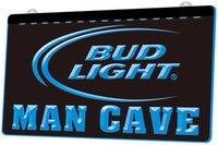 luzes de broto venda por atacado-Ld0677 Bud Light Beer Man Caverna Rgb Multiple Sign Cor Remote Control 3d gravura Led Neon Light Shop Bar Pub Clube
