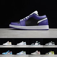 jordan 1 chicago groihandel-Air Jordan AJ1 Mens 1 Basketball-Schuhe Jumpman Low 1s Frauen verboten Bred Chicago Black Toe Court Lila Pine Grün UNC Schatten Sneaker