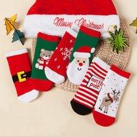 Wholesale cloth children boy resale online - Cute Soft Kids Christmas Socks Years Old Lovely Comfortable Boy Girls Socks Cartoon Cotton Baby Children Christmas Socks GWD3063