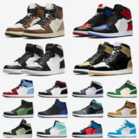 Wholesale jumpman sneakers resale online - Jumpman Mens Basketball shoes shattered Backboard UNC s Gold Top Cactus Jack Obsidian Banned Bred Toe Men Women trainer Sports Sneakers
