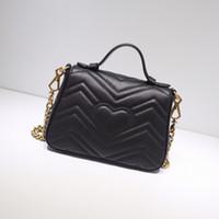 Cowhide Leather handbag for women shoulder bag chain purse lady fashion wave chain purse handbag presbyopic evening bag messenger Wholesale