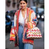 Boho Inspired Cashmere jacquard cardigan for women fringed trims long sleeve cardigan sweater coat winter belted sweater women 201130
