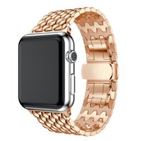 Wholesale Good Quality Metal Bracelet Stainless Steel Bands for Apple Watch Series Replacement Strap for Iwatch mm Watch Band