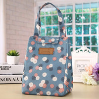 Wholesale insulate lunch bags for sale - Group buy 18 cm Multiple Patterns Thermal Bag Waterproof Lunch Bags Portable Insulated Oxford Tote Food Picnic Lunch Bags EWD2236