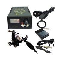 Beginner Tattoo Kit 1 Rotary Machine 3 Inks Sets Power Supply Needles G1C15A2