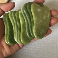 Home Health Gua Sha Set Natural stone Green Jade GuaSha Board Massager for Scraping Therapy Jades Roller