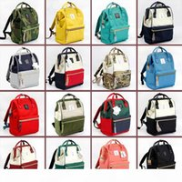 Wholesale anello japan resale online - Japan Anello Stripes Canvas Backpacks Colors Rucksack Student School Bags Mommy Backpack Nappies Bags Outdoor Travel Bags