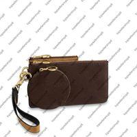M68756 TRIO POUCH women canvas real Cowhide-leather 3 three different pouche Mini Circle zip wristlet clutch purse wallet bag