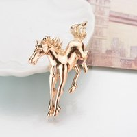Wholesale horse pin rhinestones for sale - Group buy Yada Ins Gold Unicorn Pins And Brooches For Lapel Pin Garment Scarf Accessory Jewelry Rhinestone Crystal Horse Brooches Bh200029 bbyWpU