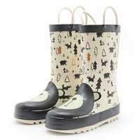 Wholesale boys rain boots resale online - KushyShoo Kids Rain Boots Girls Waterproof Children Rubber Boots Cute Cartoon Bear Toddler Boy Rainboots Non slip Kids Shoes LJ201027