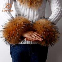 Wholesale wrist fur cuff resale online - ZDFURS High Quality Fox fur Cuffs Hot Sale Wrist Warmer Genuine Fox Fur Cuff Arm Warmer Lady Bracelet Real Fur Wristband Glove