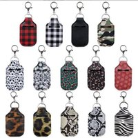 Wholesale design hand bags resale online - Sanitizer Keychains Sports Printed Hand Sanitizer Bottle Cover Bags Soap Chapstick Holder Fashion Accessories Party Gift Designs BWF2530