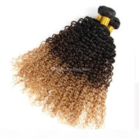 Wholesale prices for ombre hair resale online - CheaP Price Honey Blonde Tone Ombre Hair Weaves Brazilian Hair B Hair Bundles For Beauty Girl