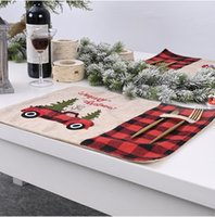 ingrosso piantando caffè-Decorazione di Natale Tovaglietta per Dining Table Coasters impianto Cup Coffee Table Mat Tovaglia Cucina Home Decor regali di natale DWF2561