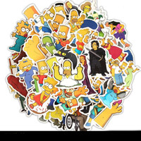 Wholesale stickers classic toys resale online - 50pcs Set Anime Simpsons Cartoon Stickers Skateboard Fridge Guitar Laptop Motorcycle Travel Luggage Classic Toy Waterproof Stickers