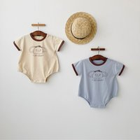 Wholesale funny newborn baby boy clothes for sale - Group buy Cute Baby Boys Funny Rompers Summer Short Sleeve Cotton Cartoon Jumpsuit for Newborn Baby Boys Clothes M Infant Outfits C1021