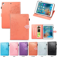 Wholesale mini pads apple online – New Pad Pro air ipad Mini Luxury flower Leather Flip case cover with bracket Card holder flip