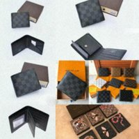 Wholesale key chain s for sale - Group buy 2020 new Designer Bag billfold High quality Plaid pattern women Wallet men Pures high end s Designer Wallet with box