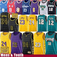basketball trikot james groihandel-LeBron 23 6 Ja James 12 Morant Basketball Jersey 8 Earvin O'Neal Johnson Memphis