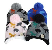 Wholesale infant boys caps resale online - 2020 Knitted Baby Ear Hats With Scarf Newborn Winter Beanie Warm Caps Set Soft Hat Child Girls Boys Bonnet Infant Hat Sea Shipping DDA629