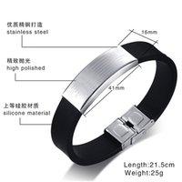 Wholesale customized bracelet for sale - Group buy 2019 Stainless Steel Jewelry Customized European And American Style Scriptures Silicone Bracelet Bangles Stainless bbyLZj