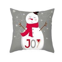 Wholesale great cushions resale online - Christmas Tree Santa Elk Snowman Hat Letter Pillow Case Cushion Cover Xmas Decor Great Cushion Cover For Christmas qylpDq dh_garden