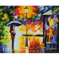 Wholesale green living pictures for sale - Group buy Leonid Afremov Canvas Art quot Green Night quot Home Decor Oil Painting On Canvas Wall Art Canvas Pictures For Living Room