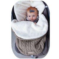 Wholesale baby bags for sleeping resale online - Baby Sleeping Bag Envelope Winter Kids Sleepsack Footmuff For Stroller Knitted Sleep Sack Children Newborn Knit Wool Slaapzak