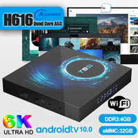 5 Piece! Android 10.0 TV Box T95 4GB+32GB H616 Support 2.4G Wifi 6K Caja de tv android PK H96 Free Shipping