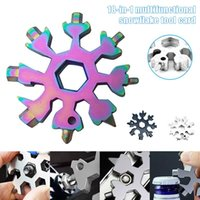 Wholesale wrench bottle openers resale online - 18 in camp key ring pocket tool multifunction hike keyring multipurposer survive outdoor Openers snowflake multi spanne hex wrench
