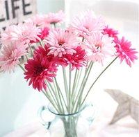 Wholesale slik flowers resale online - Artificial Flower Single Gerbera Slik Flower Artificial Plant Party Supplies Centerpieces Wedding Decorative Simulation Flowers EWC98