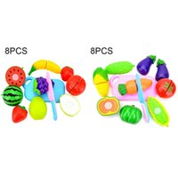 Wholesale fruit vegetable set cut toys for sale - Group buy 8pc Simulate Fruit Pretend Play Toy Baby Kitchen Food Toy Set Vegetable Cutting Fruit Cooking Toys Set For Children wmtDKo yyysports