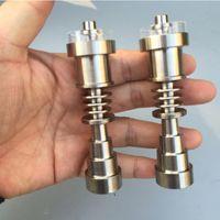 Wholesale universal joint titanium nail resale online - Universal Adjustable Grade Titanium Nail Fits Male Female Joints with Quartz Dish Bowl Dab Tool Oil Rig