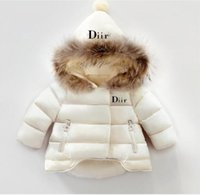 Wholesale clothe girls resale online - Children s Outerwear Boy and Girl Winter Warm Hooded Coat Children Clothes boy Down Jacket kid jackets years